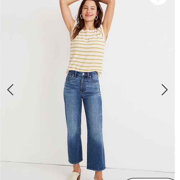 Madewell Denim - Madewell slim wide leg crop jeans